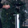 Kép 3/7 - Astreea Kézfertőtlenítő-Adagoló Pedállal, Irodai Felhasználásra, Német Rozsdamentes Acél, 1L Fertőtlenítőszerkapacitással