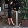 Kép 5/7 - Astreea Kézfertőtlenítő-Adagoló Pedállal, Irodai Felhasználásra, Német Rozsdamentes Acél, 1L Fertőtlenítőszerkapacitással