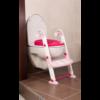 Kép 1/7 - KidsKit WC fellépő lépcső, bili és szűkítő, 3 az 1-ben, fehér-rózsaszín-pink