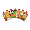 Kép 3/7 - SQUIZ ételtasak, 5 darabos, Carnaval (Bohóc medve, Pingvin, Oroszlán, Kígyó, Tigris), 130 ml
