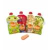 Kép 2/4 - SQUIZ ételtasak, 4 darabos, Esőerdő (Papagáj, Béka, Teknős, Leopárd), 130 ml
