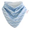 Kép 1/6 - Bibetta nyálkendő dupla nedvszívó réteggel - kék csíkos