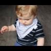 Kép 3/7 - Bibetta nyálkendő dupla nedvszívó réteggel - szürke csíkos