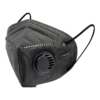 Kép 2/2 - KN95 FFP2 fekete szelepes maszk, 5 rétegű szájmaszk n95 - 10 db