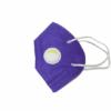 Kép 2/2 - KN95 FFP2 lila szelepes maszk, 5 rétegű szájmaszk KN95 - 1 db