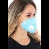 Kép 3/3 - KN95 FFP2 kék szelepes maszk, 5 rétegű szájmaszk KN95 - 10 db