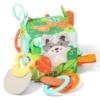Kép 1/2 - BabyOno kocka Friendly Forest puha készségfejlesztő 9x9x9cm 548