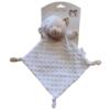 Kép 1/2 - Gamberritos szundikendő plüss buborékos anyagú, hálósapkás maci fehér