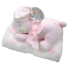 Kép 1/2 - Gamberritos takaró 80x110cm plüssmacival rózsaszín