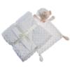 Kép 1/2 - Gamberritos takaró 80x110cm plüss buborékos anyagú szundikendővel fehér