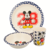 Kép 1/3 - Bambusz gyermek étkészlet 3 db-os - Mickey Mouse
