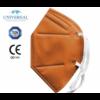 Kép 3/4 - FFP2 színes szelep nélküli maszk - 10 db - NARANCSSÁRGA