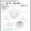 Kép 3/3 - FFP2 színes szelep nélküli maszk - 1 db - PIROS
