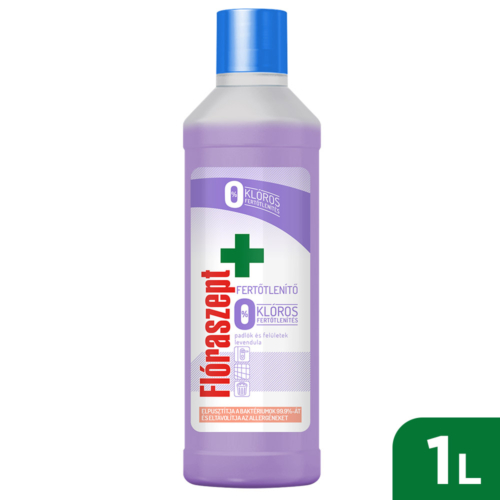 Flóraszept Klórmentes Fertőtlenítő Hatású Felülettisztító Levendula 1L