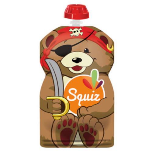 SQUIZ ételtasak, 1 darabos, Kalóz Medve, 130 ml