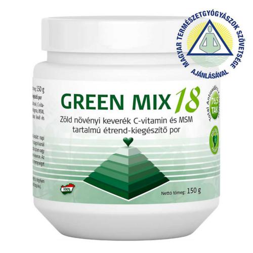 Green Mix 18 étrend-kiegészítő por* (150 g) Lugosítás a PH egyensúlyért