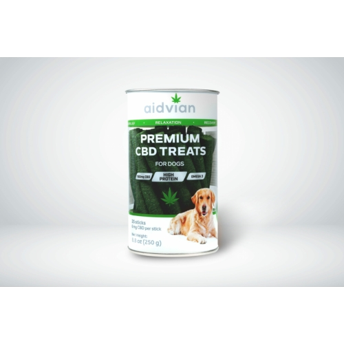 AIDVIAN Premium CBD Dog Treats in Tube 150 mg 250 g (25 db)