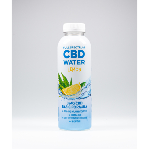 AIDVIAN Full Spectrum CBD Water LEMON 3 mg 500 ml