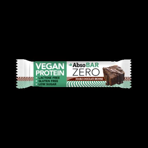 AbsoBAR ZERO 40g - Dupla csokoládés brownie - vegán fehérjeszelet