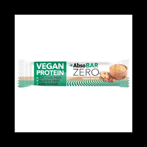 AbsoBAR ZERO 40g - Mogyoróvaj  - vegán fehérjeszelet