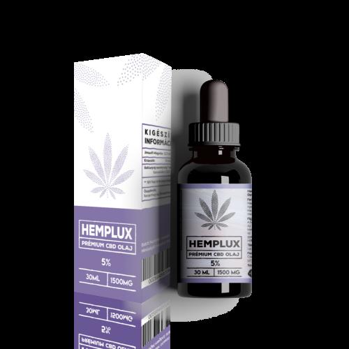 Hemplux 30 ml CBD olaj 5% (1500 mg)