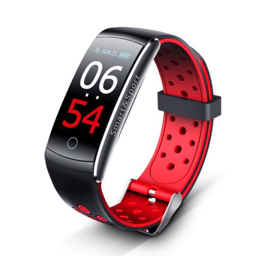 ProWear Band Q8 pulzus-, vérnyomás- és véroxigánmérő vízálló okoskarkötő - Piros