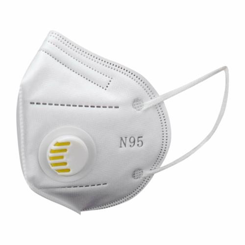 KN95 FFP2 fehér szelepes maszk, 5 rétegű szájmaszk n95 - 10 db/csomag
