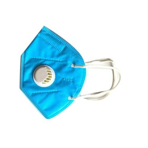 KN95 FFP2 kék szelepes maszk, 5 rétegű szájmaszk KN95 - 10 db