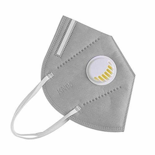 KN95 FFP2 szürke szelepes maszk, 5 rétegű szájmaszk n95 - 1db