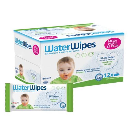 WaterWipes Szappanbogyó Törlőkendő Mega Pack