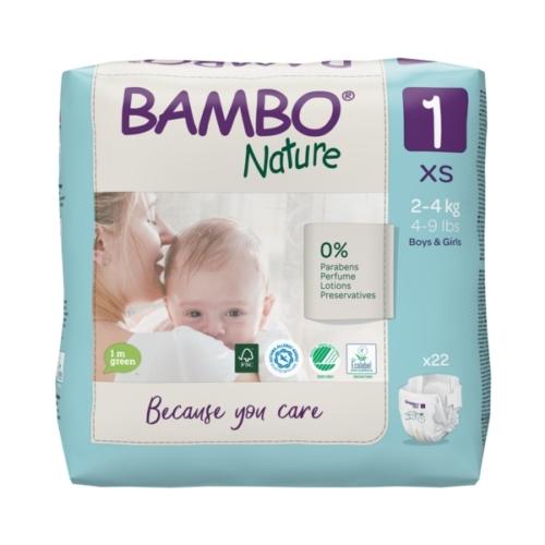 Bambo Nature öko pelenka 1, 2-4 kg, 22 db