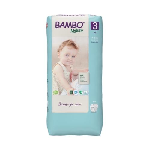 Bambo Nature öko pelenka 3, 4-8 kg, Nagy Csomag, 52 db