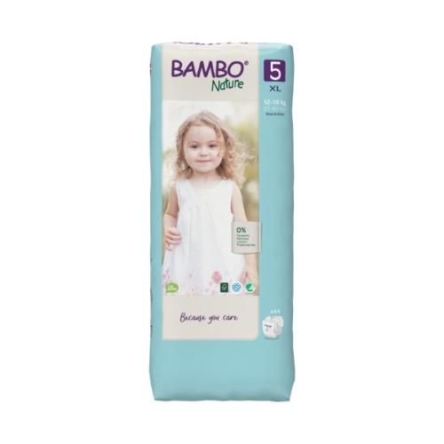 Bambo Nature öko pelenka 5, 12-18 kg Nagy Csomag 44 db
