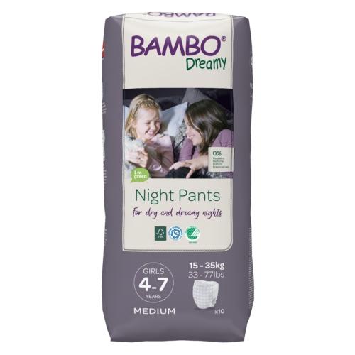 Bambo Dreamy éjszakai pelenka, Lány 15-35 kg, 10 db