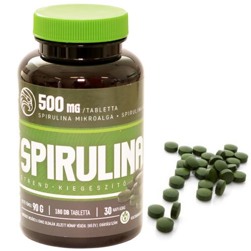 Mannavita SPIRULINA tabletta 500mg étrend-kiegészítő, 180db