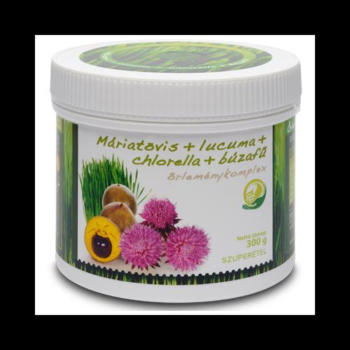 Máriatövis + Lucuma + Búzafű + Chlorella, 300g