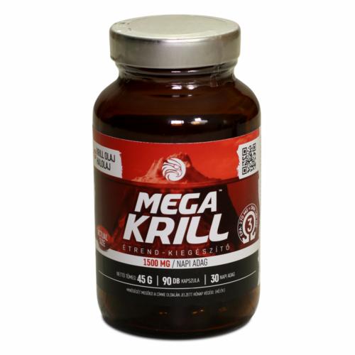 Mega Krill 1500mg krill olaj + halolaj, 90db