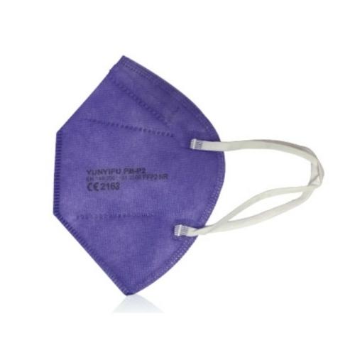 FFP2 színes szelep nélküli maszk - 10 db - LILA