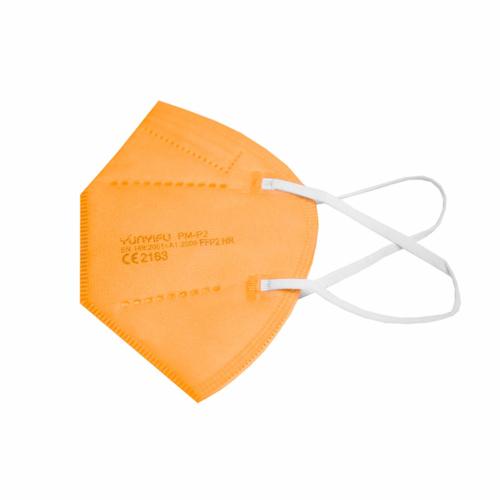 FFP2 színes szelep nélküli maszk - 10 db - NARANCSSÁRGA