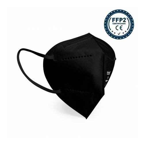 FFP2 színes szelep nélküli maszk - 10 db - FEKETE